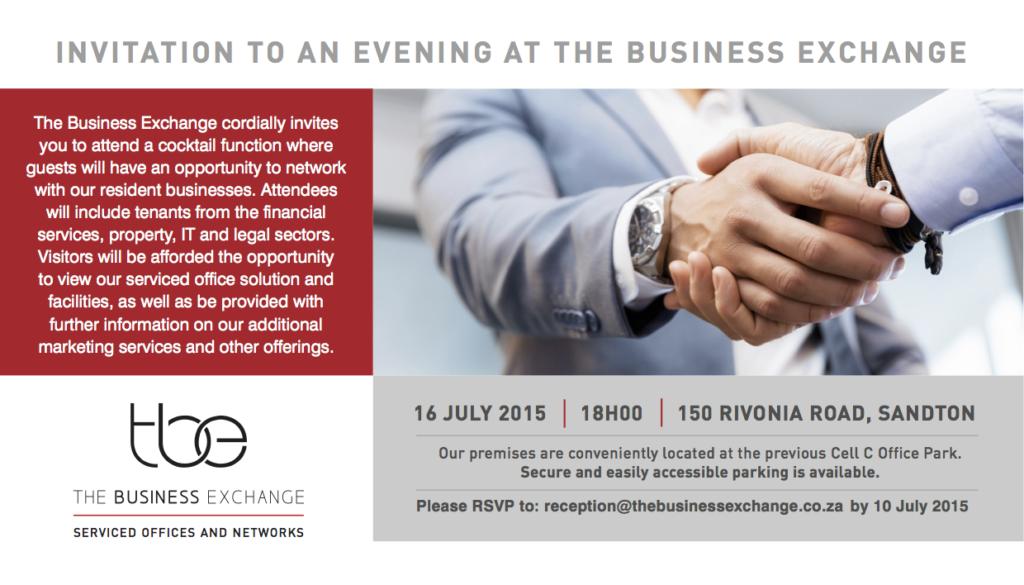 TBE Invitation 16 July RSVP 10 July
