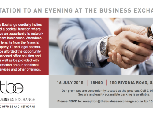 Invite To An Evening At The Business Exchange.