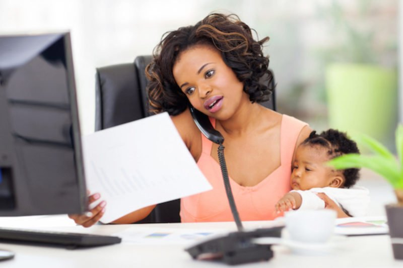 virtual office work from home woman