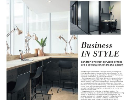 Business IN STYLE Sandton's newest serviced offices are a celebration of art and design