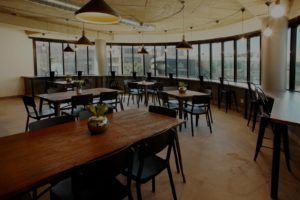 rosebank office space canteen - coworking office space to rent - the business exchange office space 1
