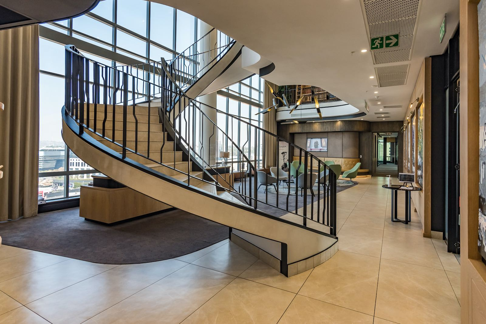 serviced office space to rent - the business exchange - 140 west street sandton Reception 2
