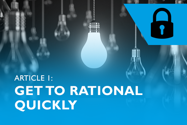 Lockdown advice 1 – Get to rational quickly