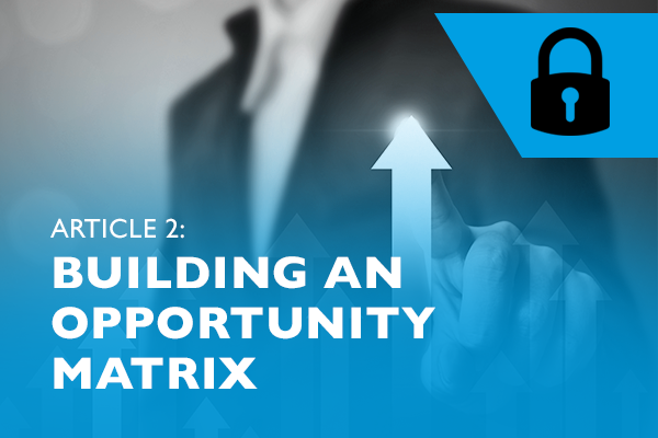 Lockdown advice for entrepreneurs 2 - Building an opportunity matrix